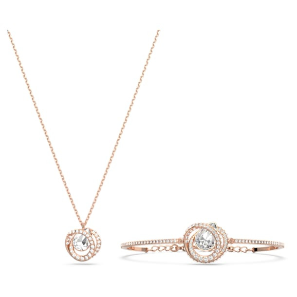 Generation Set, White, Rose-gold tone plated - Swarovski, 5290681