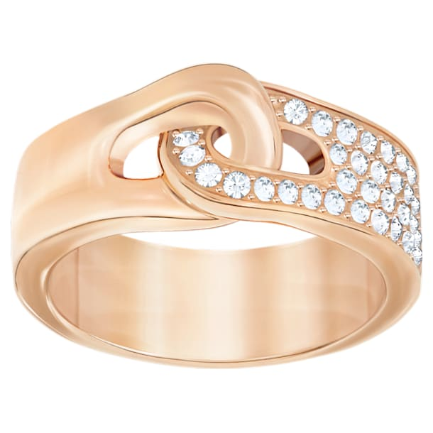 Gallon Ring, White, Rose-gold tone plated - Swarovski, 5293776