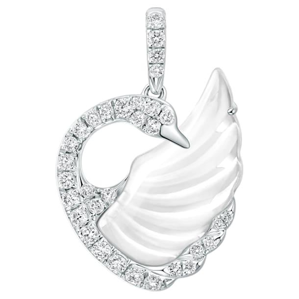 18K WG Dancing Swan Pendant (RC) - Swarovski, 5294480