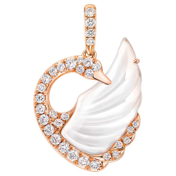 天鹅曼舞18K玫瑰金水晶钻石链坠 - Swarovski, 5294489