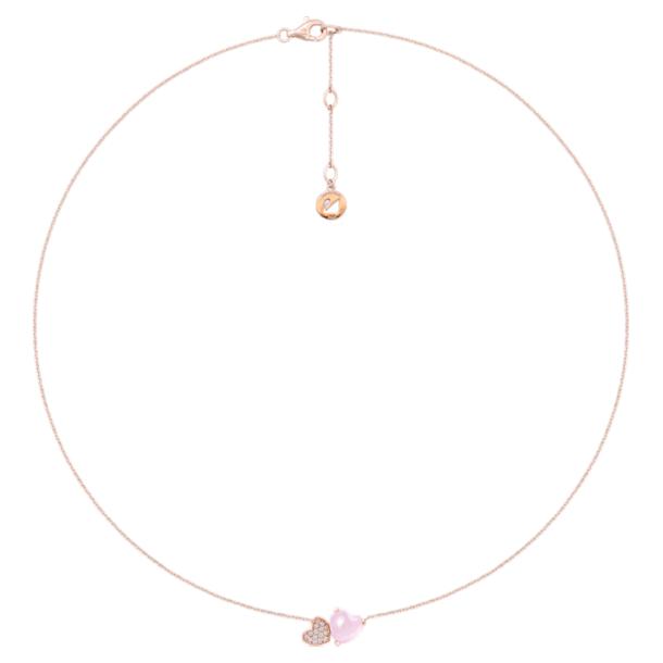 怦然心动18K玫瑰金芙蓉石钻石项链 - Swarovski, 5294635