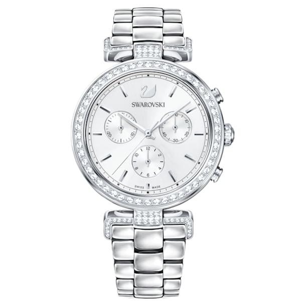 Era Journey Watch, Metal bracelet, White, Stainless steel - Swarovski, 5295363