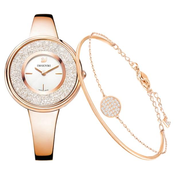 Crystalline Pure 套装, 白色, 玫瑰金色调 - Swarovski, 5297166
