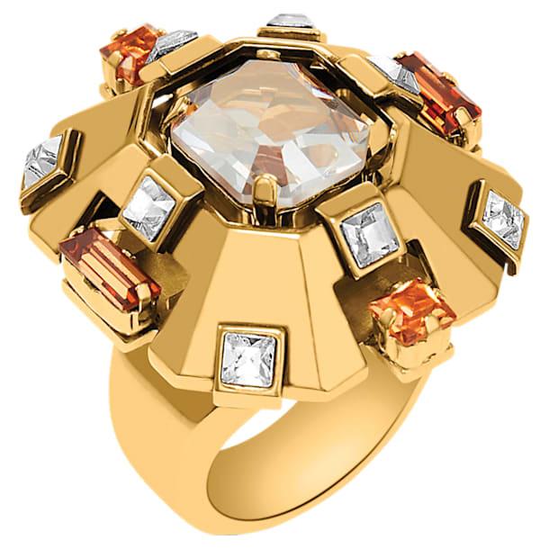 Bague large Cristaux Deco, métal doré - Swarovski, 5298750