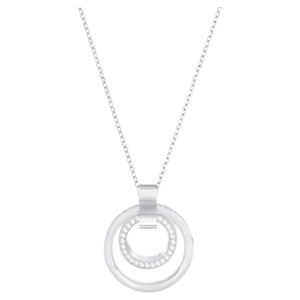 Hollow Подвеска, Круглая форма, M, Белый кристалл, Родиевое покрытие - Swarovski, 5349345