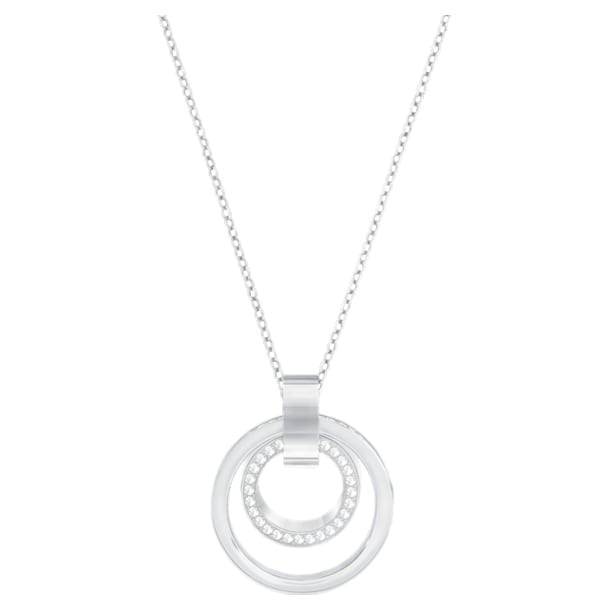 Pendente Hollow, bianco, Placcatura rodio - Swarovski, 5349345