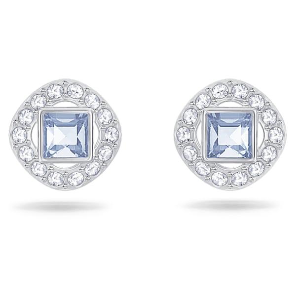 Angelic Серьги, Квадрат, Синий кристалл, Родиевое покрытие - Swarovski, 5352048