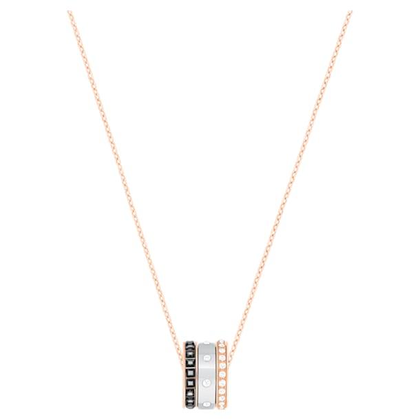 Hint Подвеска, Черный кристалл, Отделка из разных металлов - Swarovski, 5353666