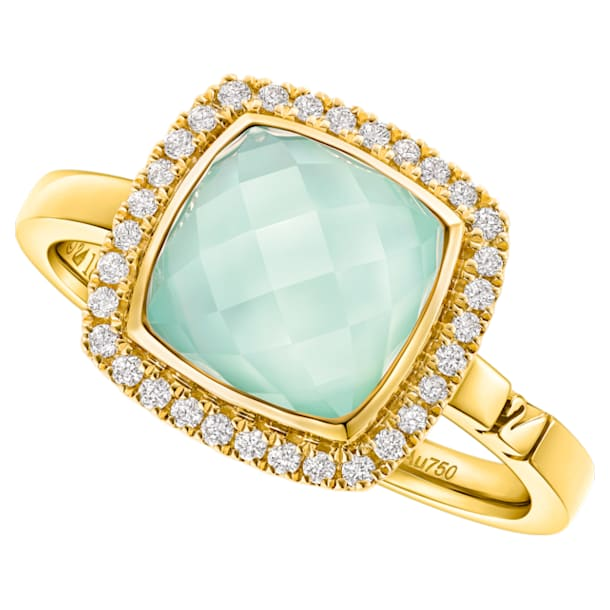 18K YG Checker Square Ring (GnCh) - Swarovski, 5362973