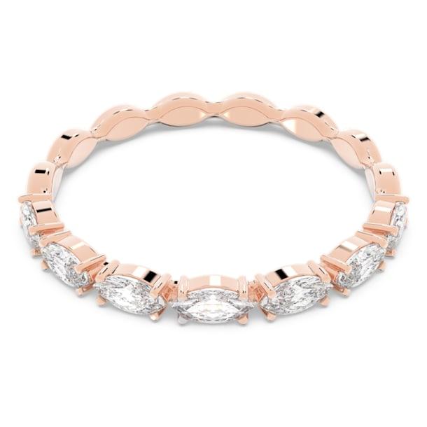 Δαχτυλίδι Vittore Marquise, Λευκό, Επιμετάλλωση σε ροζ χρυσαφί τόνο - Swarovski, 5366576