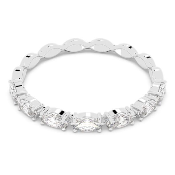 Δαχτυλίδι Vittore Marquise, Λευκό, Επιμετάλλωση ροδίου - Swarovski, 5366579