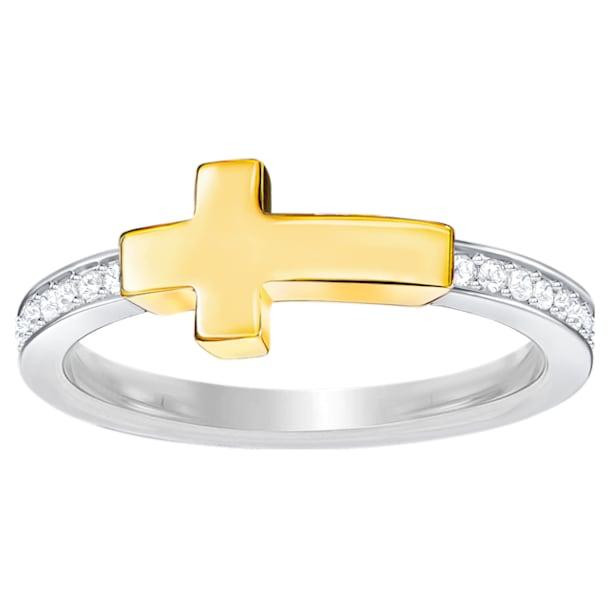 Harvey Ring, White, Mixed plating - Swarovski, 5373483