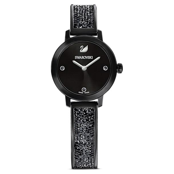 Cosmic Rock Часы, Металлический браслет, Черный Кристалл, Чёрное PVD-покрытие - Swarovski, 5376071