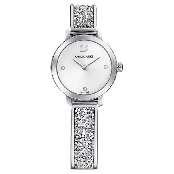 Cosmic Rock watch, Metal bracelet, Silver Tone, Stainless steel - Swarovski, 5376080