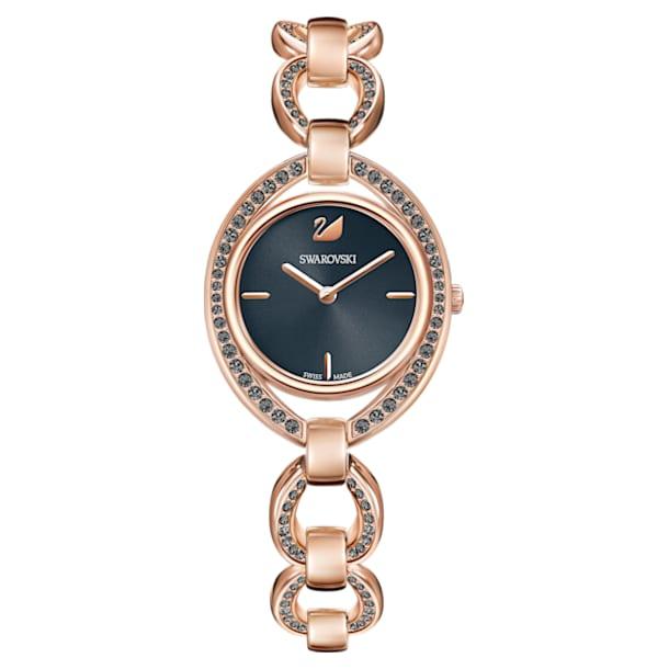 Stella Watch, Metal bracelet, Dark grey, Rose-gold tone PVD - Swarovski, 5376806