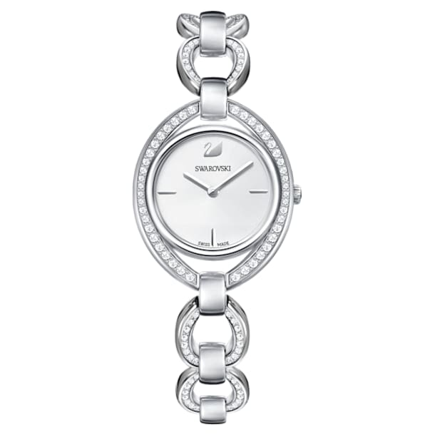 Hodinky Stella s kovovým páskem, bílé, nerezová ocel - Swarovski, 5376815