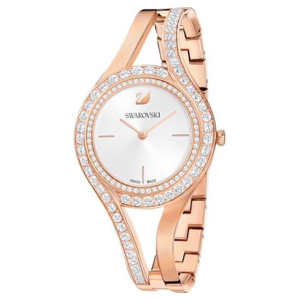 Ρολόι Eternal, μεταλλικό μπρασελέ, λευκό, PVD σε xρυσή ροζ απόχρωση - Swarovski, 5377576