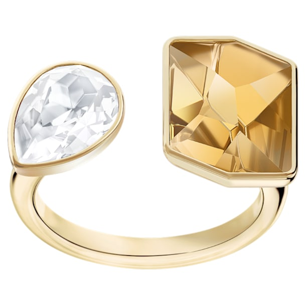 Prisma Motif Ring, Multi-coloured, Gold-tone plated - Swarovski, 5377979