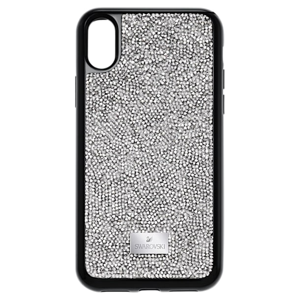 Glam Rock smartphone case , iPhone® X/XS , Grey - Swarovski, 5392053