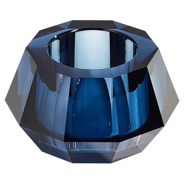 Lumen Round Candleholder, Blue - Swarovski, 5398502