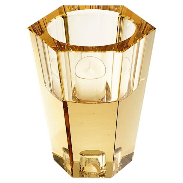 Lumen Reversible Candleholder, Gold tone - Swarovski, 5399197