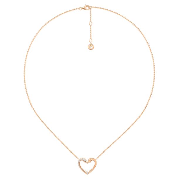 真爱之吻18K玫瑰金钻石项链 - Swarovski, 5401191