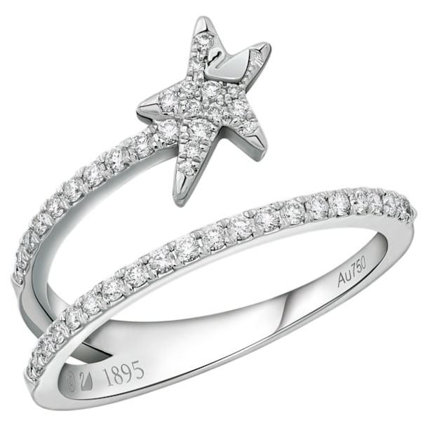 18K WG Dia Wishful Star Open Ring E - Swarovski, 5401316