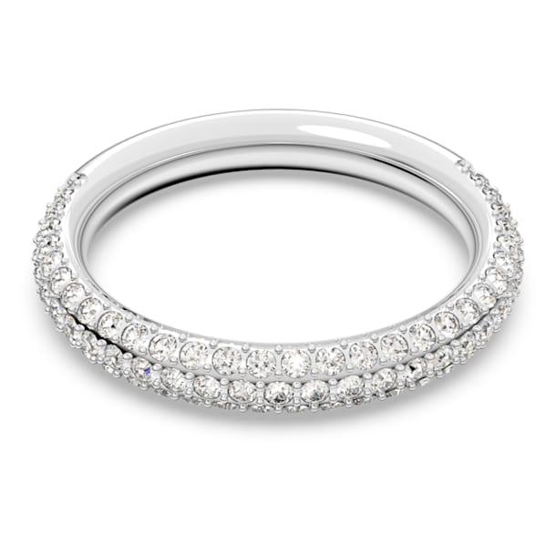 Prsten Stone, bílý, rhodiovaný - Swarovski, 5402438