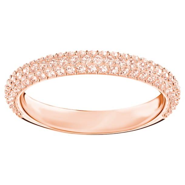 Prsten Stone, růžový, pozlacený růžovým zlatem - Swarovski, 5402441
