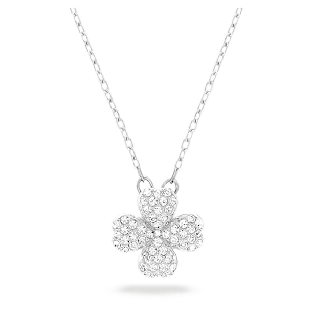 Banjo Necklace, White, Mixed metal finish - Swarovski, 5407460