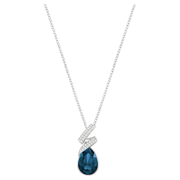 Laureen Pendant, Blue, Rhodium plated - Swarovski, 5408226