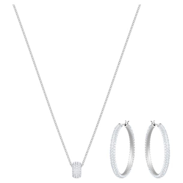 Stone Set, White, Rhodium plating - Swarovski, 5408456
