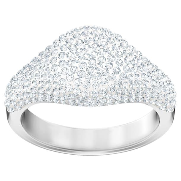 Bague Stone Signet, blanc, métal rhodié - Swarovski, 5412077