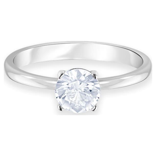 Δαχτυλίδι Attract, Στρογγυλό, Λευκό, Επιμετάλλωση ροδίου - Swarovski, 5412078