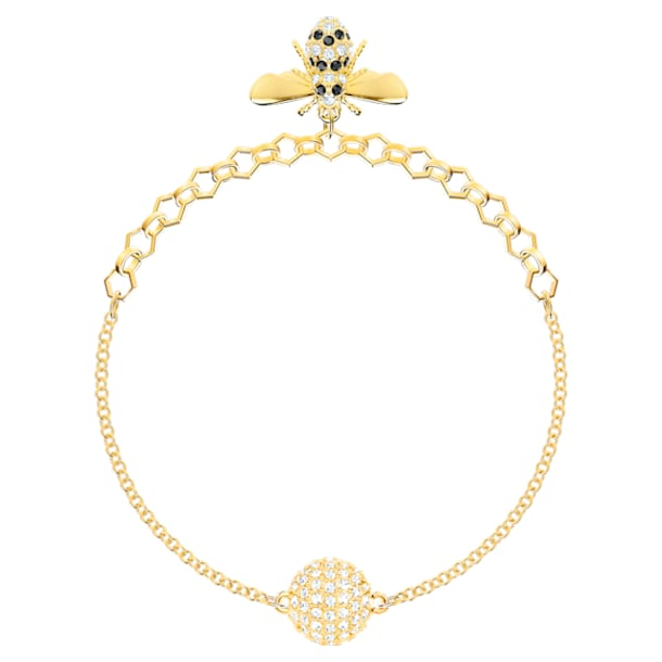 Swarovski Remix kollekció méh lánc, fekete, aranyszínű bevonattal - Swarovski, 5412322