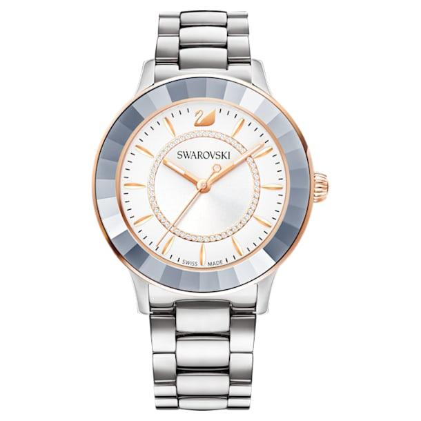 Octea Lux horloge, Metalen armband, Zilverkleurig, Roestvrij staal - Swarovski, 5414429