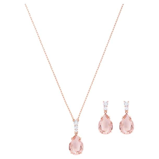 Vintage Set, Pink, Rose-gold tone plated - Swarovski, 5414695