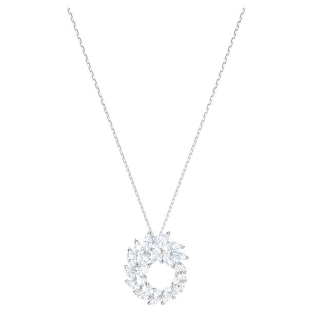 Louison Pendant, White, Rhodium plated - Swarovski, 5415989