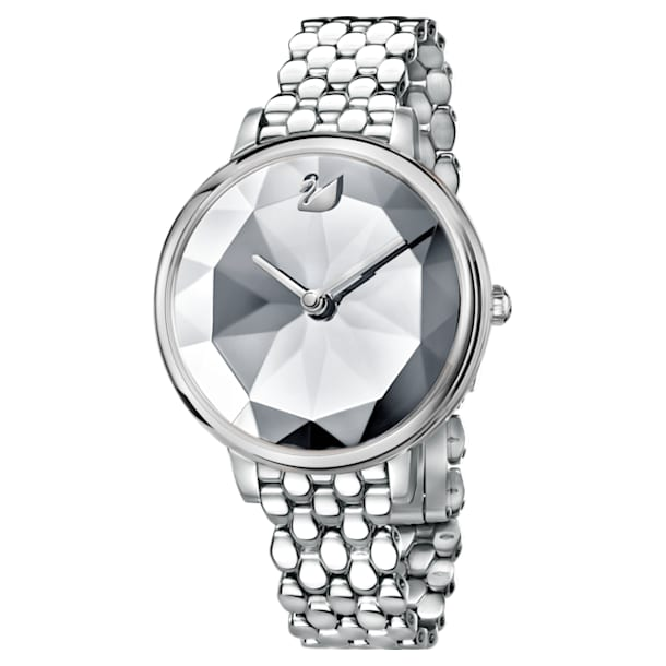 Reloj Crystal Lake, Brazalete de metal, blanco, acero inoxidable - Swarovski, 5416017