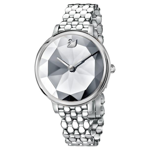 Zegarek Crystal Lake, Metalowa bransoletka, Biały, Stal szlachetna - Swarovski, 5416017
