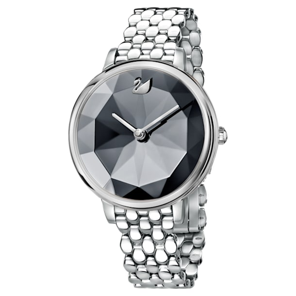 Crystal Lake Uhr, Metallarmband, dunkelgrau, Edelstahl - Swarovski, 5416020