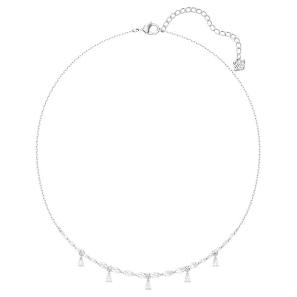 Collar Louison, blanco, Baño de Rodio - Swarovski, 5419242