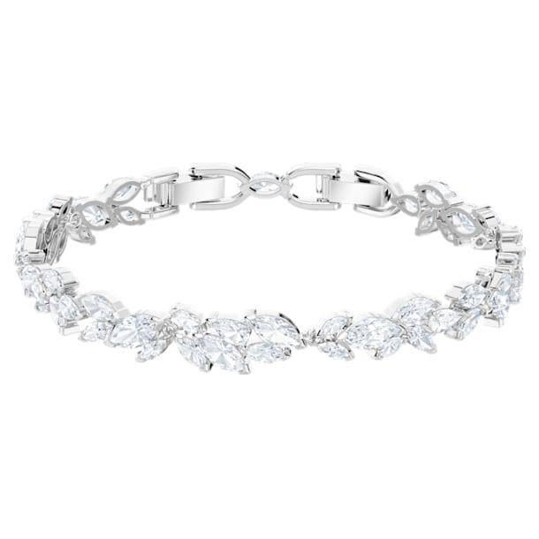Louison Armband, Blatt, Weiss, Rhodiniert - Swarovski, 5419244