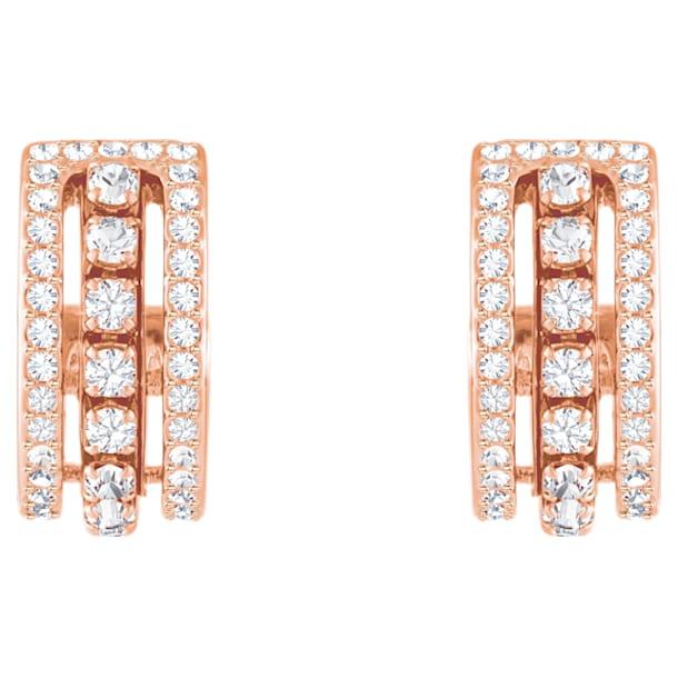Pendientes Further, blanco, Baño en tono Oro Rosa - Swarovski, 5419852