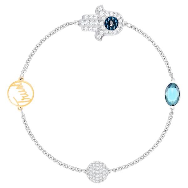 Swarovski Remix Collection Hamsa Hand Strand, 蓝色, 多种金属润饰 - Swarovski, 5421435