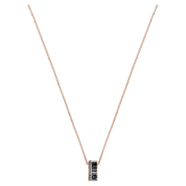 Colgante Alto, gris, Baño en tono Oro Rosa - Swarovski, 5427127