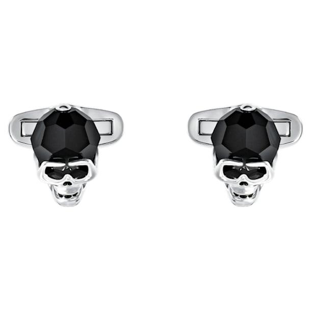 Boutons de Manchettes Taddeo, noir, Métal plaqué palladium - Swarovski, 5427147