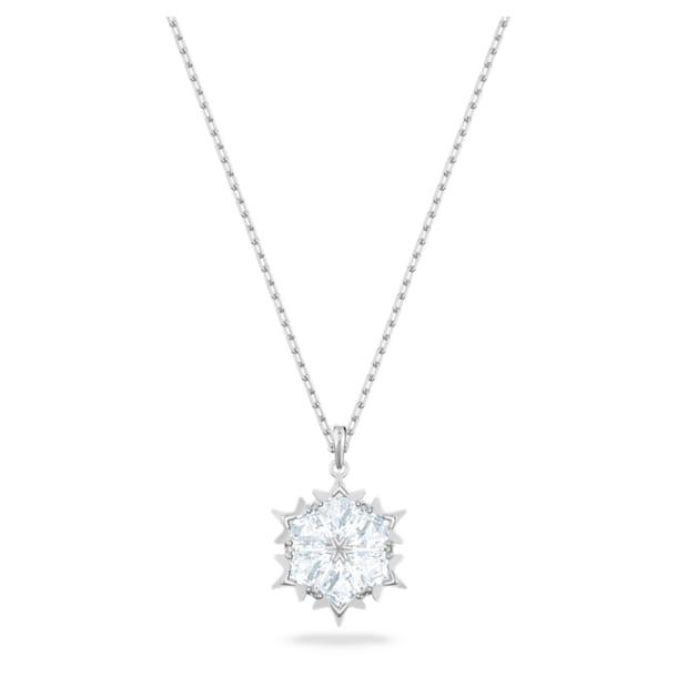 Magic Подвеска, Снежинка, Белый кристалл, Родиевое покрытие - Swarovski, 5428432