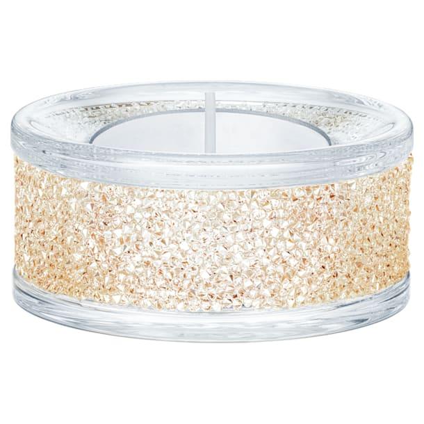 Shimmer Tea Light Holders, Gold Tone - Swarovski, 5428724