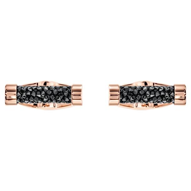 Crystaldust Manschettenknöpfe, schwarz, Rosé vergoldet - Swarovski, 5429902